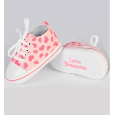 Xplorys Little Treasures Sneakers Baby Shoes (3-12m Pink Hearts) ON SALE WAS£15