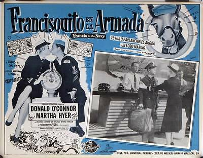 L154 FRANCIS IN THE NAVY  original Mexican Lobby card 1955 Donald O'Connor