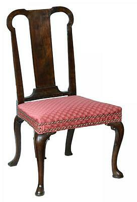 SWC-Mahogany Queen Anne Side Chair, England, c.1740