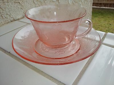 Pink Dogwood Thin Cup and Saucer