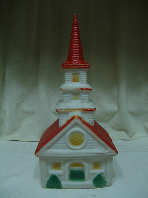 Vintage Christmas Blow Mold Church Free Shipping