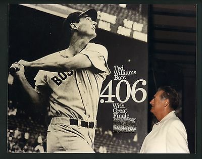 Ted Williams PERSONAL COLLECTION Ted Williams 8 x 10 photo of poster .406 season