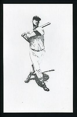 Ted Williams PERSONAL COLLECTION Ted Williams swinging 5.5 x 8.5 Ink Art Print