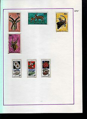 Rwanda 1975 Album Page Of Stamps #S960