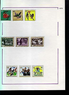 Rwanda 1972 Album Page Of Stamps #S964