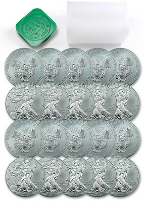 Roll of 20 - 2014 1 Troy Oz .999 Fine Silver Eagle $1 Coins SKU29722