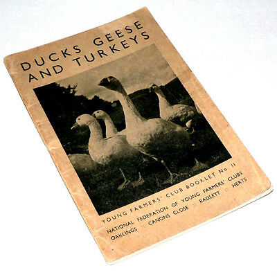 UK YOUNG FARMERS' CLUB BOOKLET - DUCKS, GEESE, TURKEYS - July 1942 1st ed. VGC