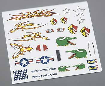 Revell Pinewood Derby Dry Transfer Decal E