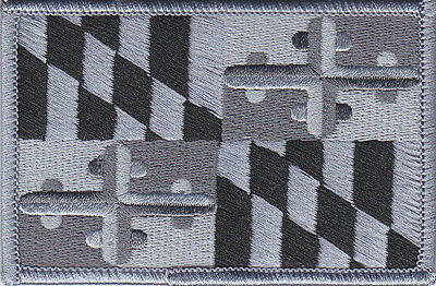 State of Maryland SUBDUED Flag patch (police/fire/ems) MD swat/tactical