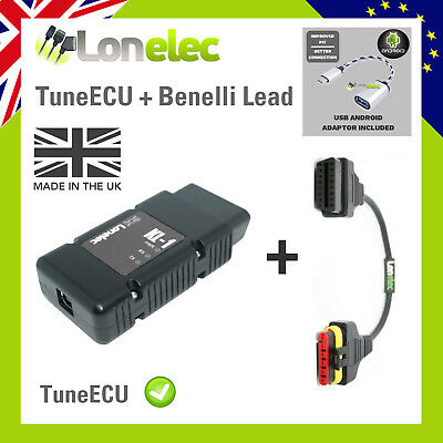 Tune Ecu Cable Lead + Benelli Adaptor - Remap Your Tornado Motorbike Sagem Ecu