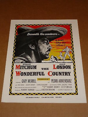 """""""The Wonderful Country"""" (Robert Mitchum/Julie London) 1959 UK Campaign Book"""