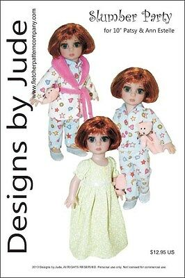 """Slumber Party Doll Clothes Sewing Pattern 10"""" Patsy & Ann Estelle by Tonner"""