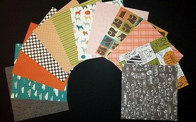 """AMERICAN CRAFTS PAPER PACK 4 for Scrapbooking/Cardmaking  15cm x 15cm (6"""" x 6"""")"""