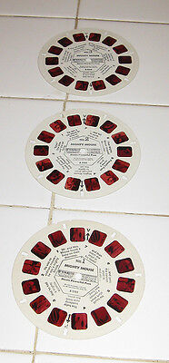 MIGHTY MOUSE 1958 VIEWMASTER Loose 3-Reel Set No Booklet/Packet
