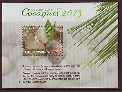 Papua New Guinea 2013 Coconuts Miniature Sheet Unmounted Mint, Mnh