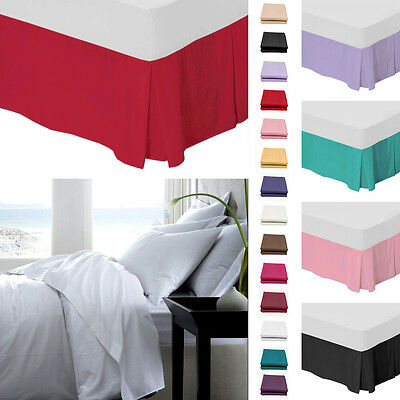 Plain Platform Base Valance Bed Sheet – Polycotton Bedding – 180 Thread Count