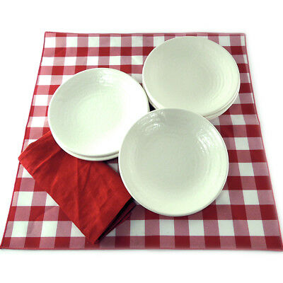 "Heavyweight 8.25"" Textured Melamine Restaurant Salad Plates CASE OF 48"