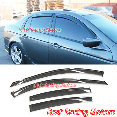 04 08 tl jdm side window visors for 05 acura tl rear window visor