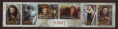 New Zealand 2013 The Hobbit Self Adhesive Strip Of 6  Unmounted Mint, Mnh