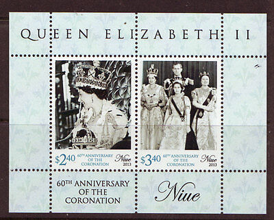 New Zealand 2013 Niue 60Th Anniversary Of Coronation, Unmounted Mint