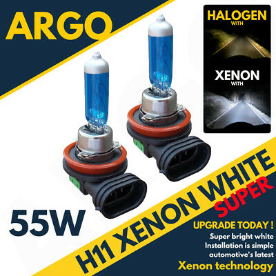 H11 55W Xenon White Headlight Front Fog Light Replacement Bulbs Hid Effect