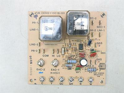 Carrier Bryant Fan Control Circuit Board CESO110018-00 CES0110018-00