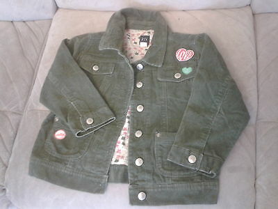 Girls 4 Years - Leaf Green Casual Lined Jacket with 'Patches' - Gap