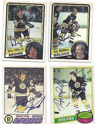 1984-85 OPC #9 Rick Middleton Boston Bruins Signed Autographed Card