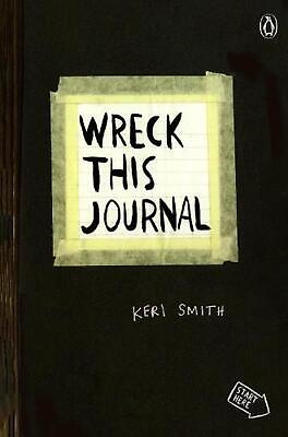 Wreck This Journal (Black) by Keri Smith (English) Paperback Book Free Shipping!