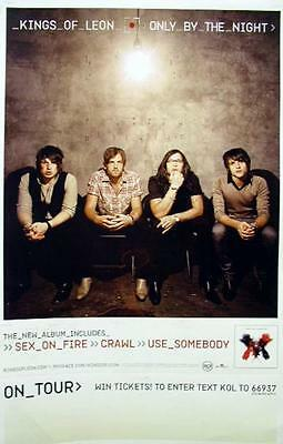 Kings Of Leon 2008 only by the night promotional poster Mint Condition New