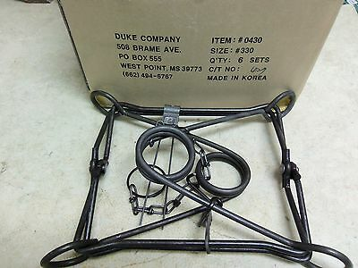 6  Duke 330 Body Grippers Trap Trapping  Beaver Otter Coyote 0430