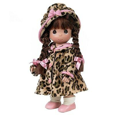 """New Precious Moments ~ Warm Your Heart ~ in Leopard ~ 12"""" Vinyl ~ The Doll Maker"""