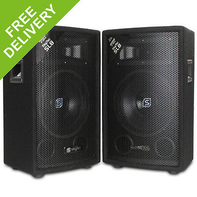 "Pair 8"" Inch Bedroom DJ PA Party Disco Passive Speakers 800W Max"
