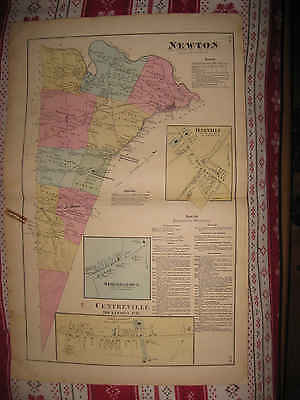 Antique 1872 North South Newton Township Cumberland County Pennsylvania Map Nr