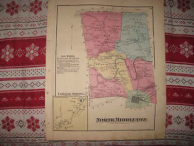 Antique North Middleton Township Carlisle Cumberland County Pennsylvania Map Nr