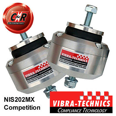 2x Nissan Silvia S13SR20/14/15 Vibra Technics Engine Mounts Competition NIS202MX