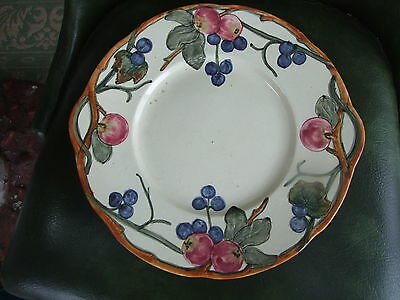 """Weller Pottery ZONA APPLE & GRAPES Handled Serving Tray PLATE 12"""" Exc Cond"""