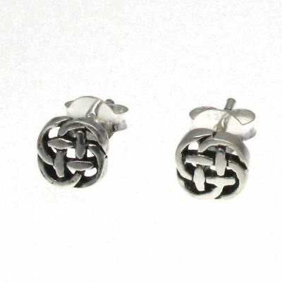 6mm Traditional Design Sterling Silver 925 Celtic Knot Studs Post Earrings