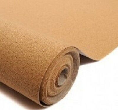 "Cork Sheet: 2.5mmx305mmx915mm 1/8x12""x36"" model railway underlay scenery roll."