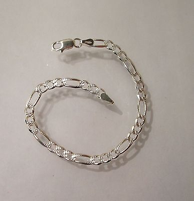 "925 Sterling Silver Baby/Childrens Solid Figaro Bracelet, Length  6"" Now in SALE"
