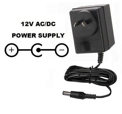 12V Power Supply Adapter For Akai Xr20 Xr-20 & Alesis Sr18 Sr-18 Drum Machines