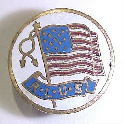 1900 Era *R.L.U.S.* Republican League United States Enameled Pin