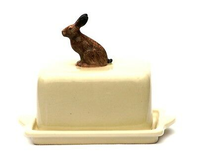 Hare Butter Dish By Quail Pottery Coursing Shooting Gift Hand Painted