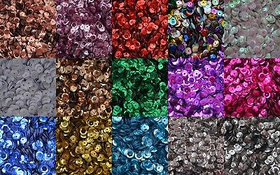 *10 FOR 5* SEQUINS 6-7mm CUPPED LOOSE ROUND SEQUINS, SEWING/EMBELLISHMENTS
