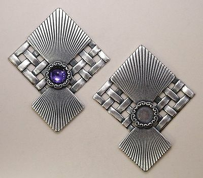 #8235 ANTIQUED SS/P PENDANT/ER DESIGNER COMPONENT W/7mm BEZEL - 2 Pc Lot