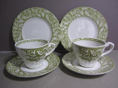 A4 J & G Meakin Staffordshire Ironstone Lucerne Cups Saucers Dessert Plates