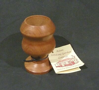 Australian RED MYRTLE MINIATURE VASE,ADAM LINDSAY GORDON COTTAGE
