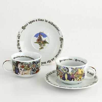 CARDEW  SNOW WHITE 8oz ROUND CUP and SAUCER SET/ 2