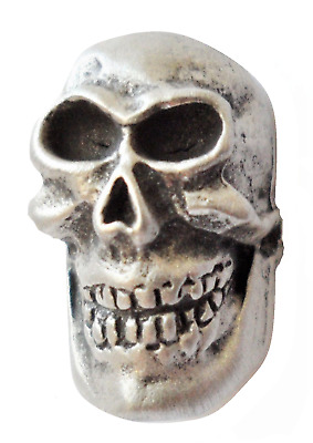 Miniature Skull Pewter Pin Badge