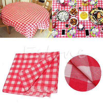 New Red Oil Cloth Yardage Tablecloth Gingham Check One-time Wedding Party